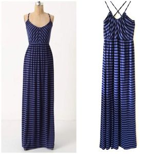 Anthropologie | Deletta Black and Blue Maxi Small